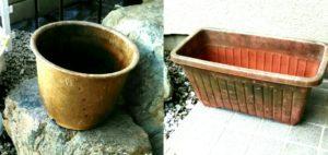 古い植木鉢の画像