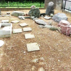 純和風の石庭の画像
