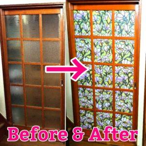 ガラス戸のビフォーとアフターの画像